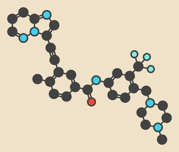 Chronic Wall Art - Photograph - Ponatinib Cancer Drug Molecule by Molekuul