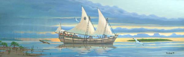 Painting - Ponce De Leon Exploration Ship by Duane McCullough