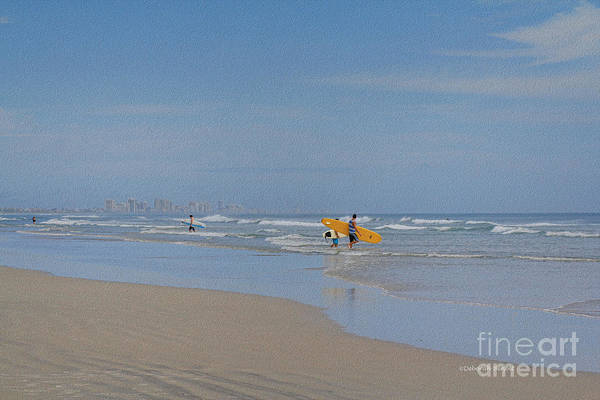 Photograph - Ponce Inlet Surfing Day by Deborah Benoit