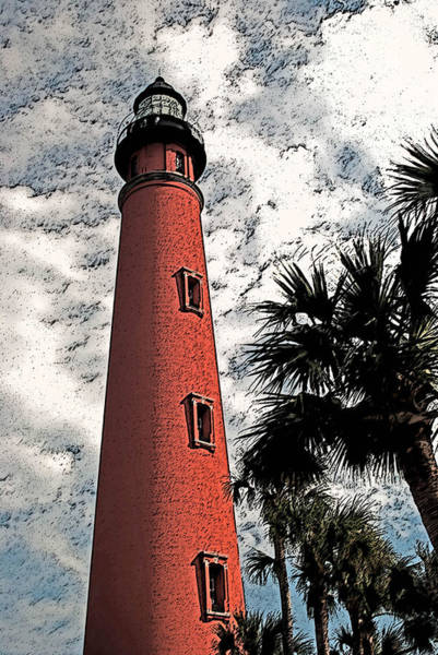 Photograph - Ponce Lighthouse Artistic Brush by G L Sarti
