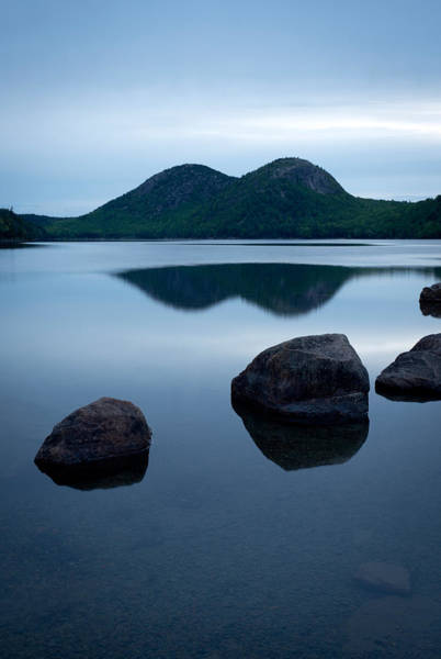 Colored Bubbles Photograph - Pond At Dawn, Jordan Pond, Bubble Pond by Panoramic Images