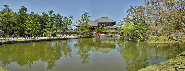 Nara Wall Art - Photograph - Pond At Todai-ji Temple, Nara, Nara by Panoramic Images