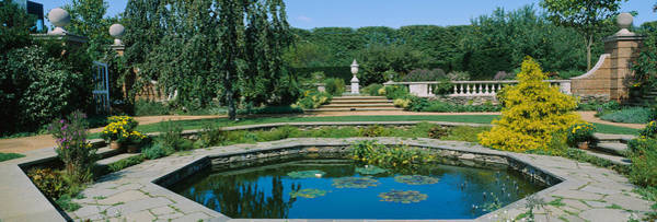 Chicago Botanic Garden Photograph - Pond In A Botanical Garden, English by Panoramic Images