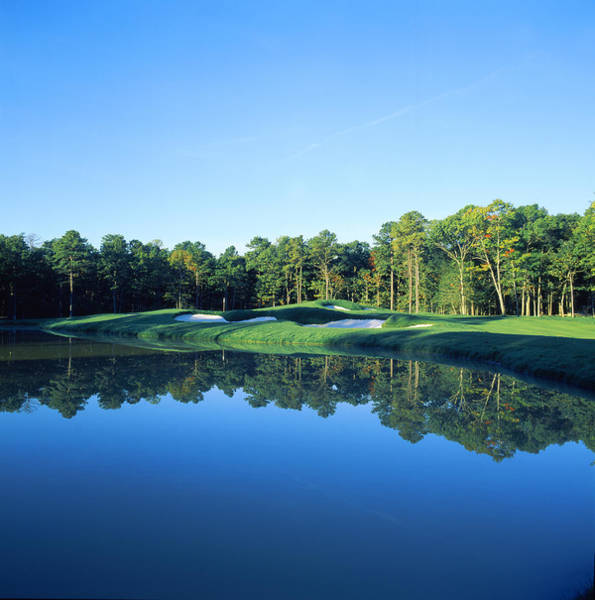 May Day Photograph - Pond In A Golf Course, Shore Gate Golf by Panoramic Images