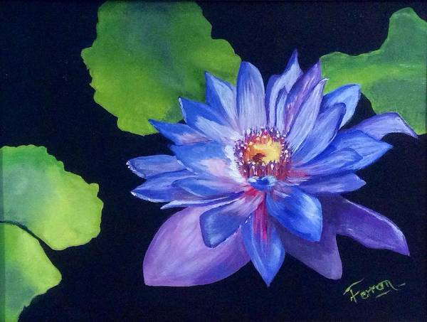 Art Print featuring the painting Pond Lily by Patti Ferron
