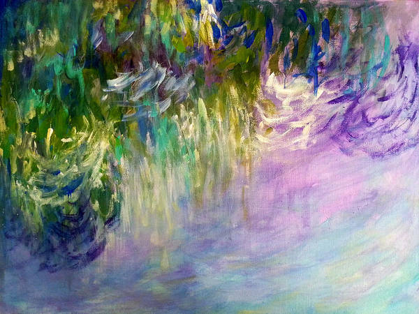 Painting - Pond Reflections by Nikki Dalton