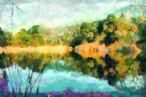 Mixed Media - Pond Reflections by Priya Ghose