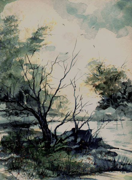 Painting - Pond by Sam Sidders