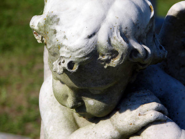Indian Burial Ground Photograph - Pondering Cherub by Max Mullins