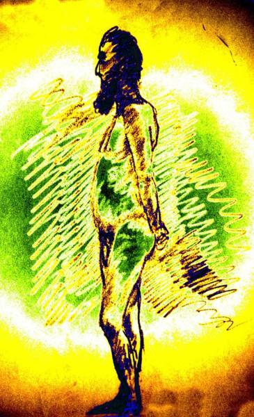 Sexuality Mixed Media - Pondering Man by Genio GgXpress