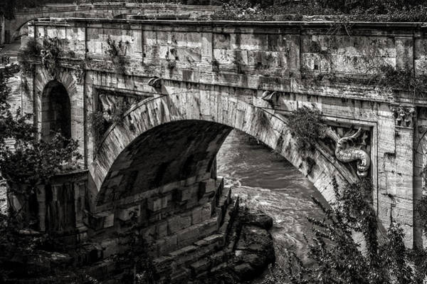 Tiber Island Wall Art - Photograph - Roman Bridge Pons Fabricius 2 Rome Italy by Bruce Ingwall