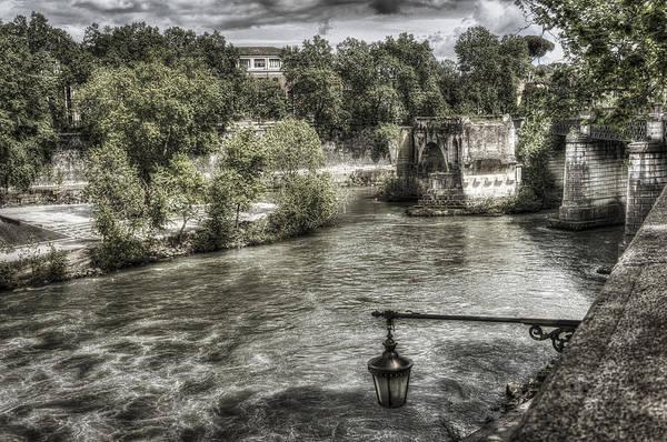 Tiber Island Wall Art - Photograph - Roman Bridge Pons Fabricius 3 Rome Italy by Bruce Ingwall