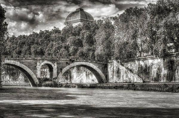 Tiber Island Wall Art - Photograph - Roman Bridge Pons Fabricius Rome Italy by Bruce Ingwall