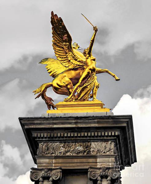 Alexandre Photograph - Pont Alexander IIi Fragment In Paris by Elena Elisseeva