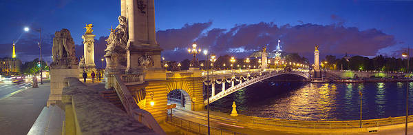 Alexandre Photograph - Pont Alexandre IIi Bridge At Dusk by Panoramic Images