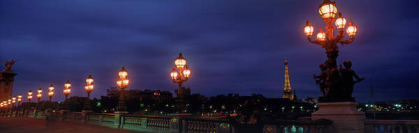 Alexandre Photograph - Pont Alexandre IIi With Eiffel Tower by Panoramic Images
