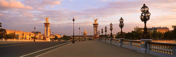 Invalides Photograph - Pont Alexandre IIi With The Hotel Des by Panoramic Images