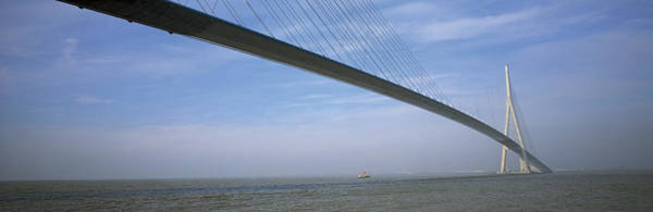 Suspended Photograph - Pont De Normandy Normandy France by Panoramic Images