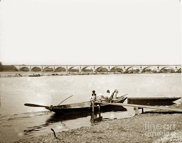 Photograph - pont George V Bridge over Loire river Orleans Loire Valley France 1900 by California Views Archives Mr Pat Hathaway Archives
