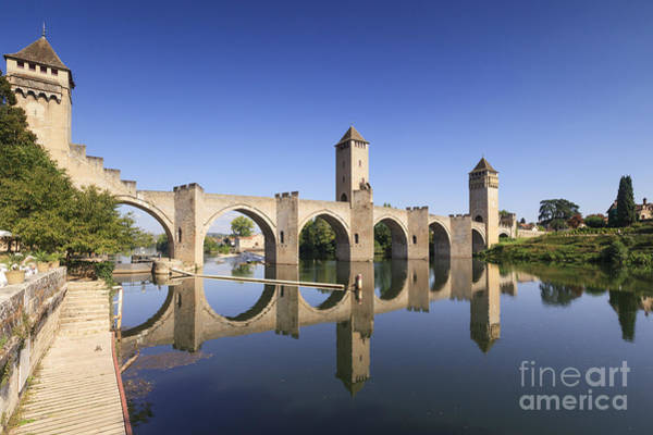 Fortification Photograph - Pont Valentre Cahors France by Colin and Linda McKie