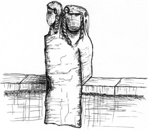 Tiber Island Wall Art - Drawing - Ponte Dei Quattro Capi by Elizabeth Thorstenson