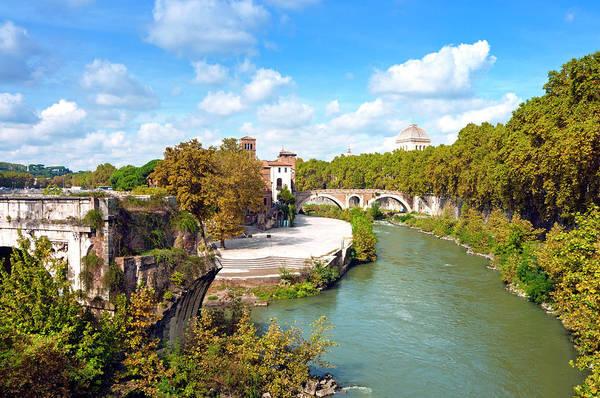 Tiber Island Wall Art - Photograph - Ponte Emilio Today Called Ponte Rotto by Nico Tondini