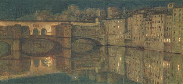 Wall Art - Painting - Ponte Vecchio, Florence by William Holman Hunt