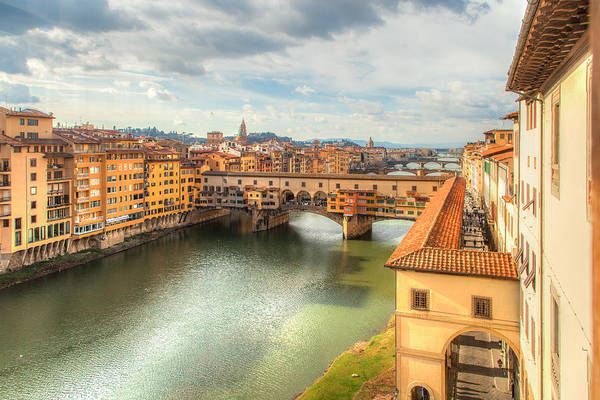 Wall Art - Photograph - Ponte Vecchio From The Uffizi Florence Italy by W Chris Fooshee