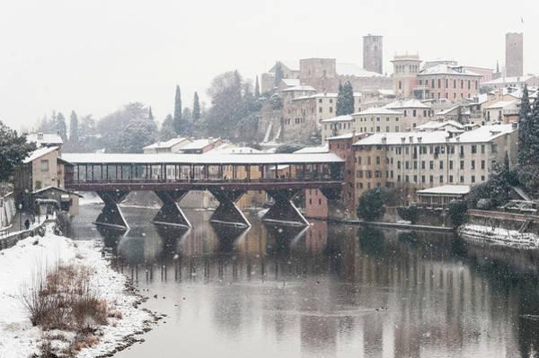 River Photograph - Ponte Vecchio In Bassano D. Grappa by Massimo Calmonte (www.massimocalmonte.it)