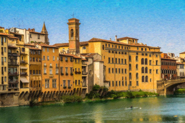 Painting - Ponte Vecchio Itl3304 by Dean Wittle