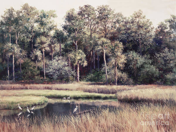 Everglades Painting - Ponte Vedre II by Laurie Snow Hein