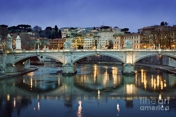 Tiber Wall Art - Photograph - Ponte Vittorio Emanuele II - Rome by Rod McLean