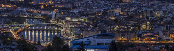 Pontevedra Panorama From A Caeira Art Print