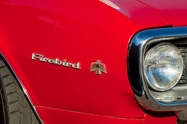 Firebird Photograph - Pontiac Firebird Emblem by Jill Reger