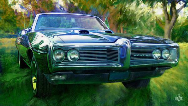 Wall Art - Digital Art - 1968 Pontiac Tempest In Green by Garth Glazier