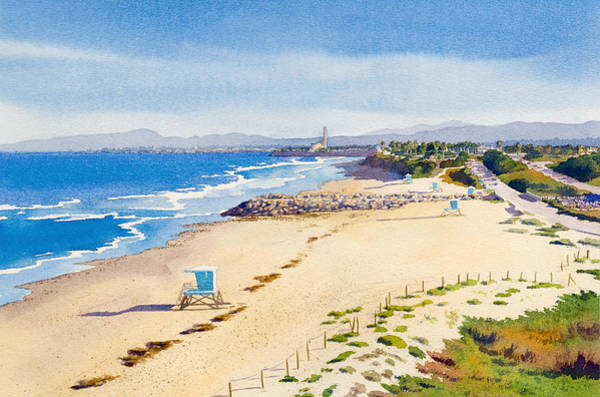Pacific Painting - Ponto Beach Carlsbad California by Mary Helmreich
