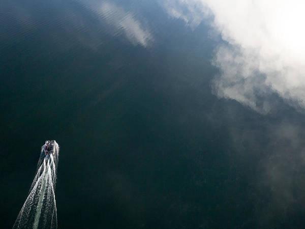 Photograph - Pontoon Boat On Big Cedar Lake by Rob Huntley
