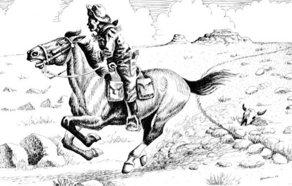 Pony Express Rider Art Print