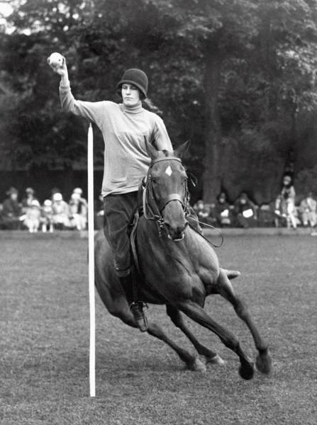 Agile Photograph - Pony Gymkhana Champion by Underwood Archives