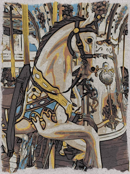 Photograph - Pony On The Carousel by Alice Gipson