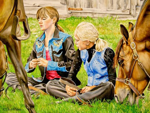 Painting -  Da139 Pony Tales By Daniel Adams by Daniel Adams