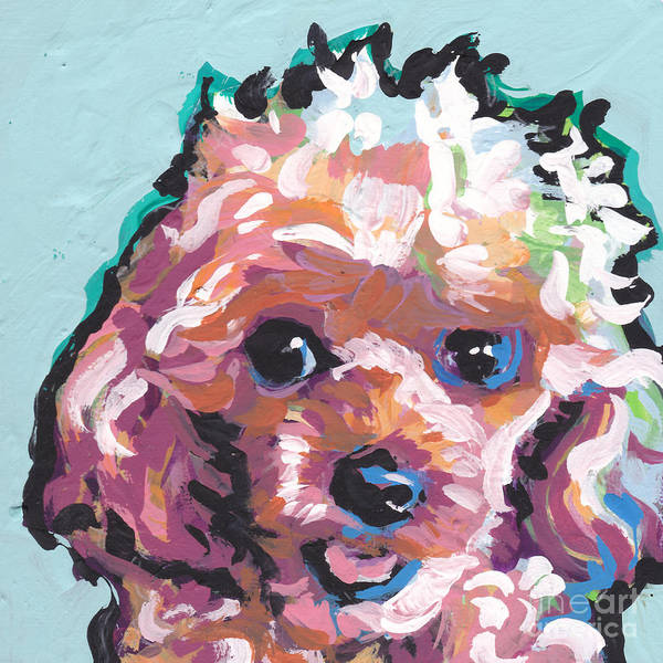 Poodle Wall Art - Painting - Poodle Baby by Lea S