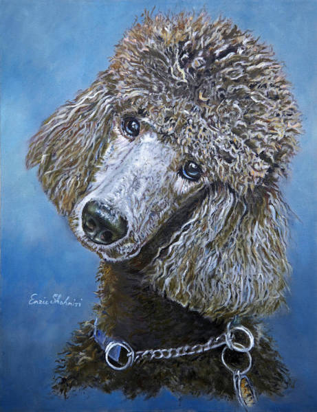 Wall Art - Painting - Poodle Gaze by Portraits By NC