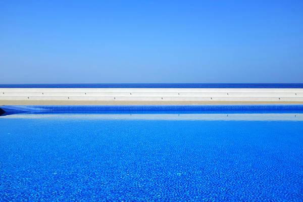 Photograph - Pool Overlooking The Sea by Fabrizio Troiani