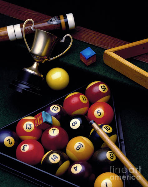 Pool Ball Photograph - Pool Gear by MGL Meiklejohn Graphics Licensing