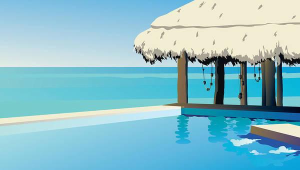 Wall Art - Digital Art - Pool On The Ocean by Robert Korhonen