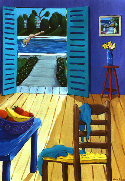 Painting - Pool Side Suite by Lance Headlee