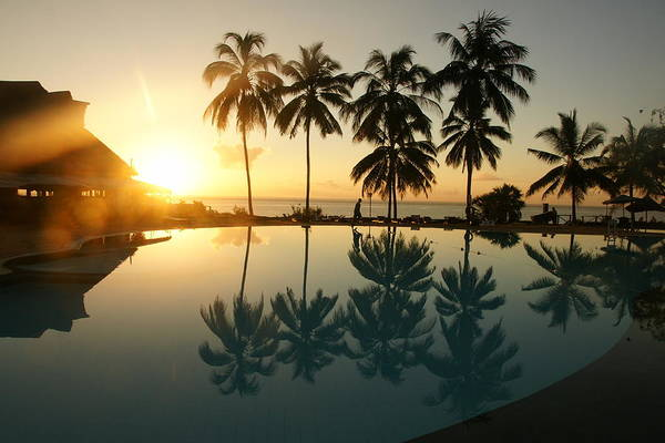 Photograph - Pool Sunrise by Olaf Christian