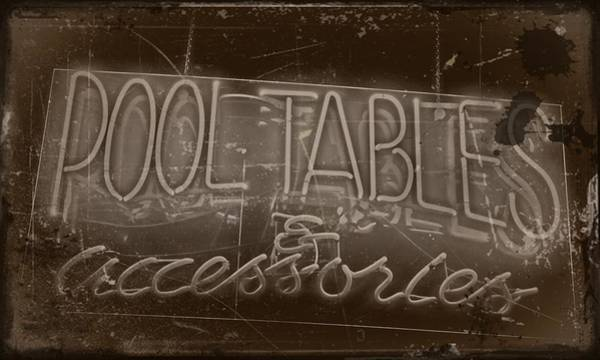 Photograph - Pool Tables And Accessories - Vintage Neon Sign by Steven Milner