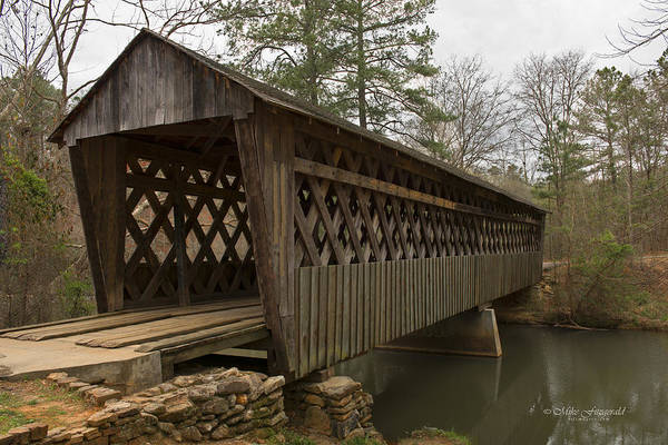 Photograph - Pools Mill Covered Bridge by Mike Fitzgerald